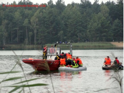 Bootsausbildung am Halbendorfer See